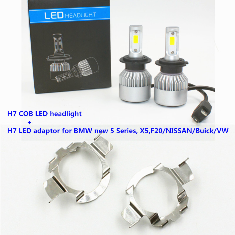 <font><b>H7</b></font> COB <font><b>LED</b></font> <font><b>Headlight</b></font> with adapter for NISSAN QASHQAI Jetta Magotan Bora <font><b>polo</b></font> 6rBMW X5 F20 Car <font><b>H7</b></font> <font><b>LED</b></font> Headlamp <font><b>led</b></font> <font><b>headlight</b></font> <font><b>led</b></font> image