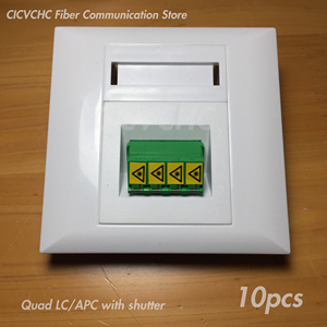 Image 3 - 10pcs 86x86mm Panel for Duplex SC Adapter or Quad LC Adapter / White / FTTH ODN