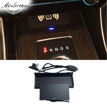 Car wireless charge adapter for Jaguar XF XE XFL F PACE center console phone power charger for iphone 11 qi fast charging panel