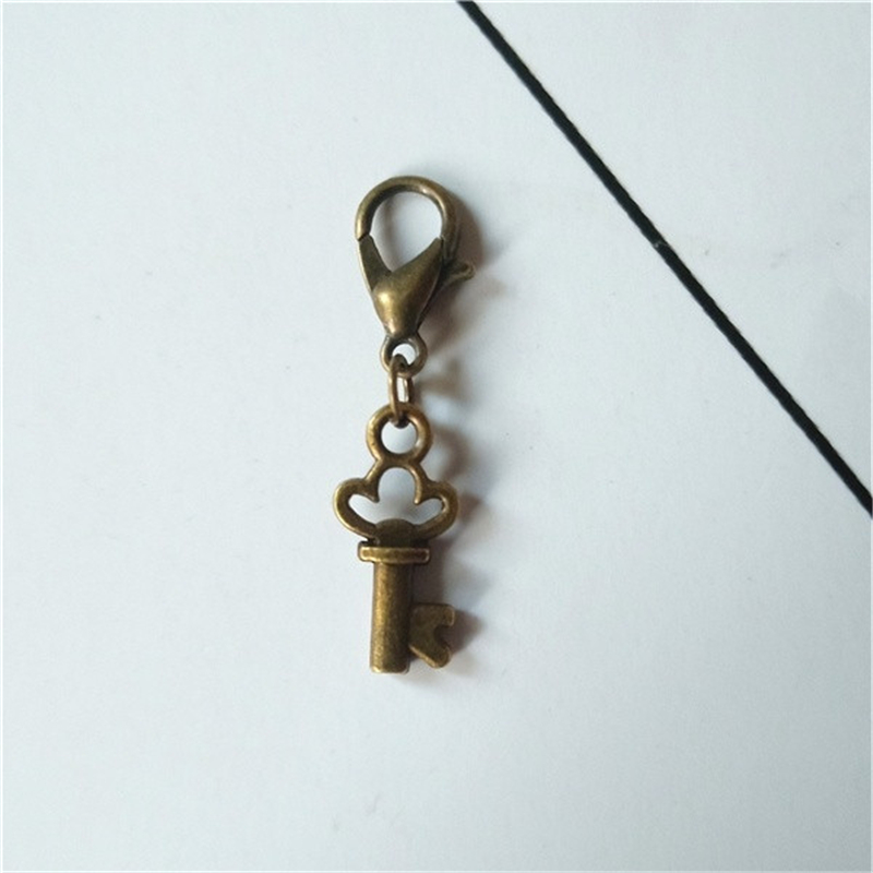 4 Pcs Bronze Color Tiny Key Clip on Charm Perfect for Necklace and Bracelets Key Zipper Pull(China)