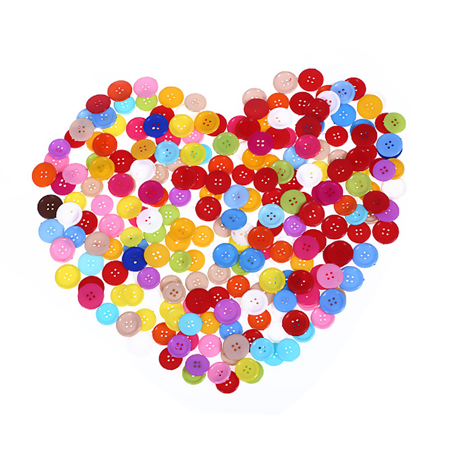 100PCS Assorted Color 2-Hole Round Plastic Buttons For Kids Children Knitting Clothes Sewing DIY Crafts Collections Scrapbooking