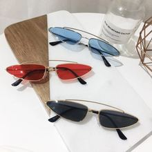 New Style Europe And America Sunglasses Metal Cat's Eye Sun Glasses Hot Sales Sun Glasses Small Triangle Water Droplet Glasses