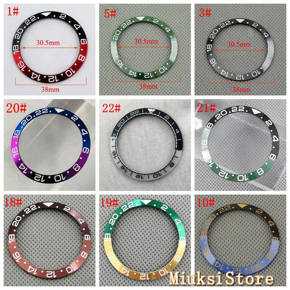 38mm new GMT ceramics bezel titanium watch bezels fit automatic mechanical watch 40mm mens watch bezels