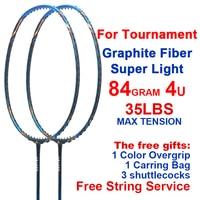ESPER 4U Professional Badminton Racket Carbon Fiber Lightweight Graphite Racquet For Tournament With String Bag Gits