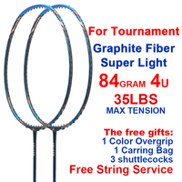 ESPER 4U Professional Badminton Racket Carbon Fiber Lightweight Graphite Racquet For Tournament With String Bag Gits