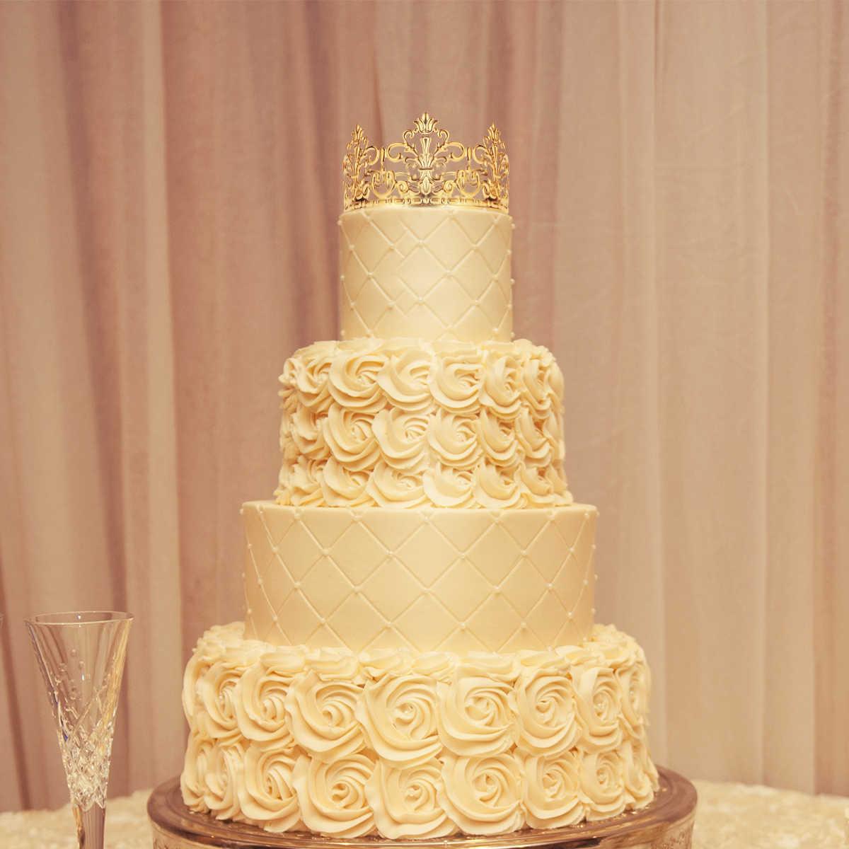 BESTONZON 2 sztuk Tiara księżniczka korona ozdoba na wierzch tortu dekoracje na tort urodzinowy Topper korona Topper ozdoby do włosów materiały ślubne (złoto)