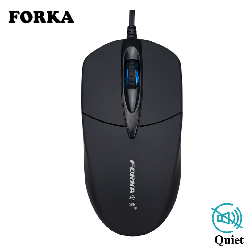 FORKA USB Wired Computer Mouse Silent Click LED Optical Mouse Gamer PC Laptop Notebook Computer Mouse Mice For Office Home Use