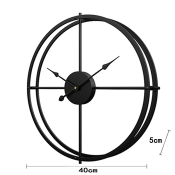 2020 Creative Wall Clock Modern Design For Home Office Decorative Hanging Living Room Classic Brief Metal Wall Watch 10