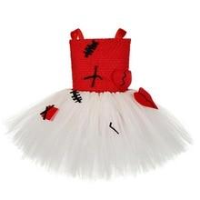 New Halloween Voodoo Doll Tutu Dress for Girls Birthday Party Handmade Children Clothing Knee-Length 2-12T
