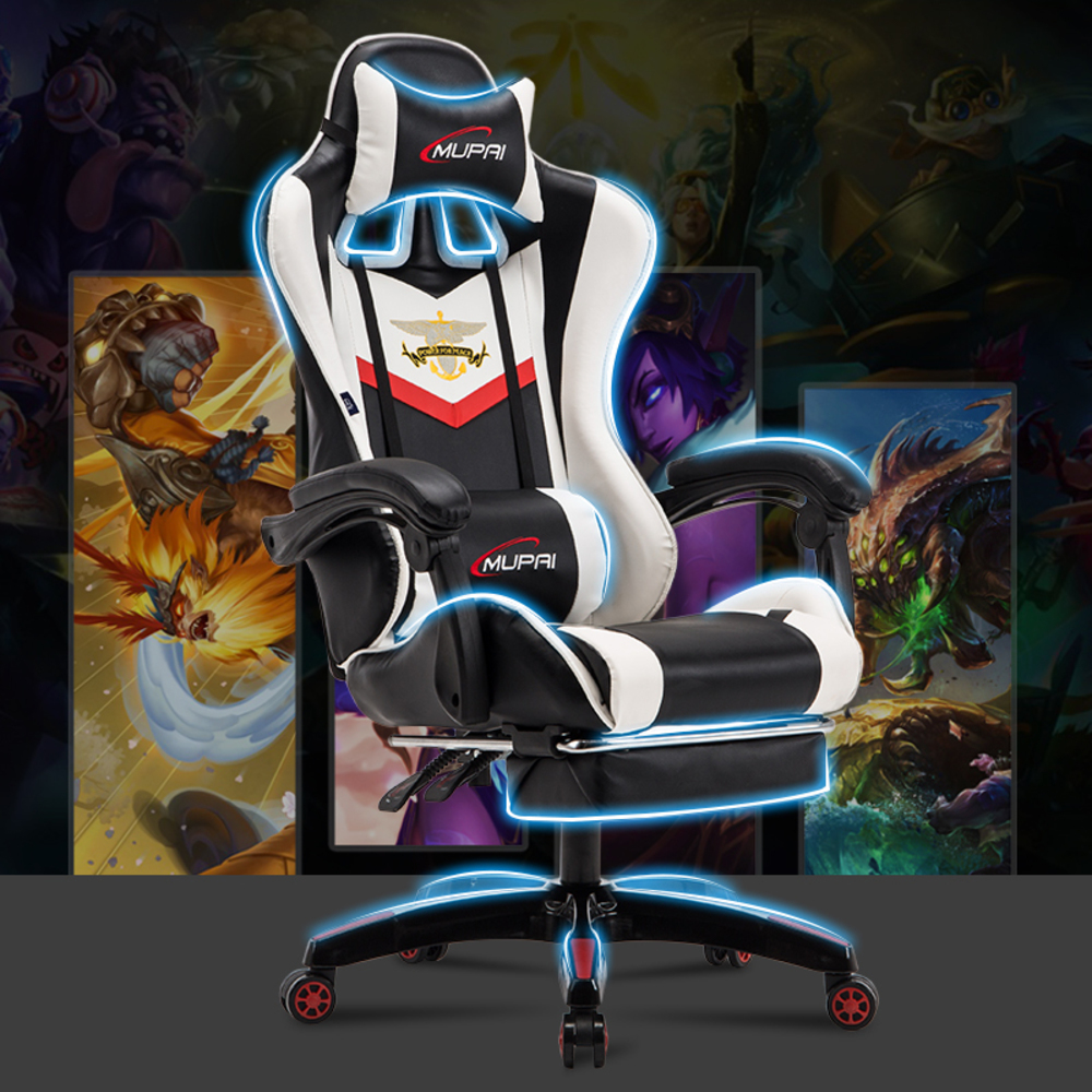 Купить с кэшбэком New Synthetic Leather Game Sports ergonomic kneeling Chair Work Home Executive Luxury Office Furniture Computer Gaming Chairs