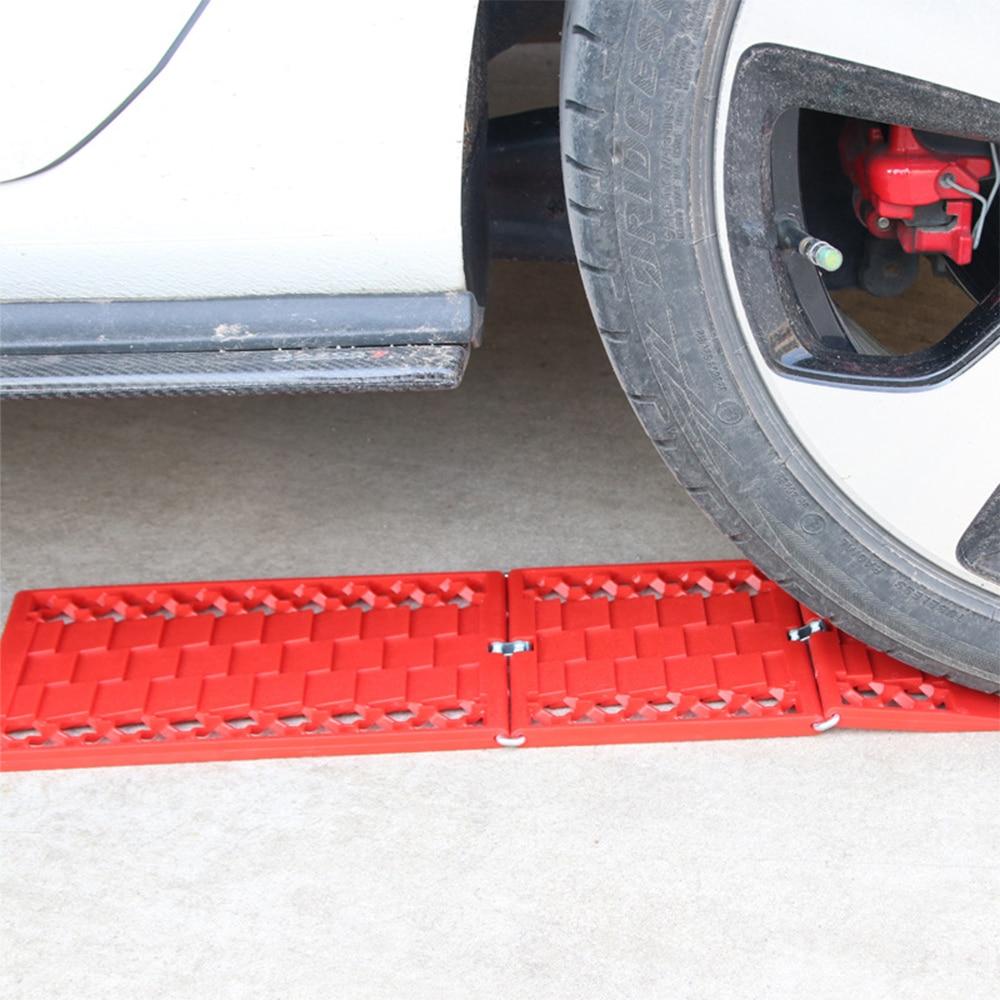2PCS Auto Notfall Rettungs Anti-skid Board Sand Schlamm Schnee Traktion Boards Escaper Recovery Tracks Reifen Leiter