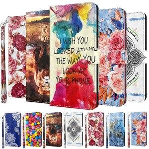 Image 1 - 3D สีสันโทรศัพท์กรณีสำหรับ Samsung Galaxy A01 A02S A10 A20 A20E A30 A50 A30S A50S A70 A40กระเป๋าสตางค์ฝาครอบหนัง