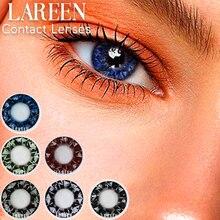 2pcs/pair Colored Contact Lenses Eye Diamonds Series Blue Contact Lenses Color Cosmetic Contact Lens for Eyes lentes de contacto