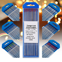 Tungsten Electrodes Professional Welding Electrodes WT20 WC20 WL20 WL15 WZ8 WP WY20 WR20 E3 1.6mm 2.4mm 3.2mm Tig Rods