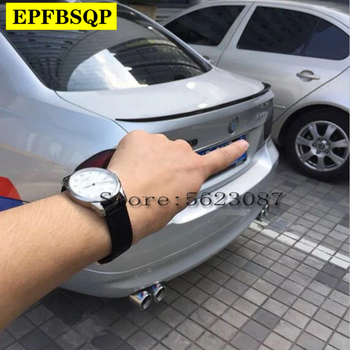For BMW 3 Series E90 320i 318i 325i 330i M3 Spoiler 2005-2012 Car ABS Plastic Unpainted Primer Rear Trunk Boot Wing Lip Spoiler image