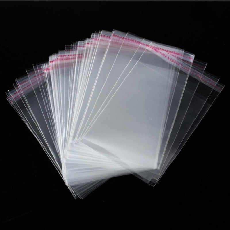 100 einzelhandel verpackung taschen mit hängen löcher, transparent selbst-adhesive versiegelt kunststoff lagerung taschen Geburtstag geschenk tasche