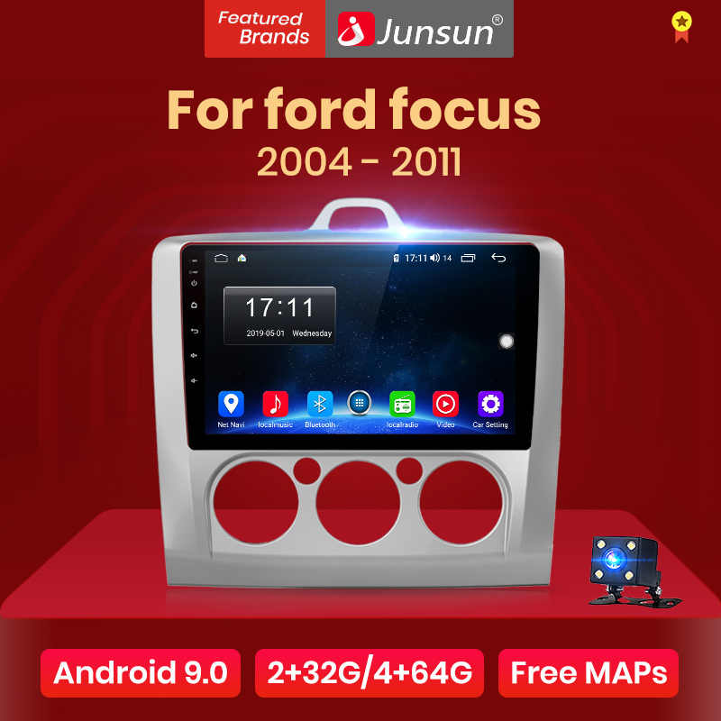 Junsun V1 2G + 32G Android 9.0 DSP Radio Multimedia Video Player di Navigazione GPS Per ford focus 2 3 Mk2/Mk3 hatchback 2 din DVD