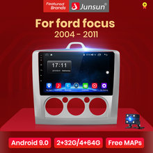 Junsun V1 2G + 32G Android 9.0 DSP araba radyo multimedya Video oynatıcı navigasyon GPS ford focus 2 için 3 Mk2/Mk3 hatchback 2 din DVD(China)