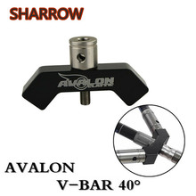 цена на 1pc Archery V Bar Stabilizer Mount Connector Bolt Balance Rod Bow Joint 40 Degree Adapt V- Bar For Hunting Shooting Accessories