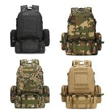 55L Molle Militaire Rugzak Leger Veld Survival Camo Reistas Multifunctionele Dubbele schouder Grote Capaciteit Rugzak