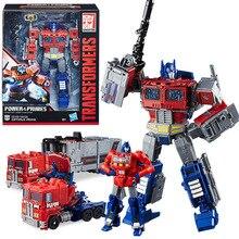 Transformadores de Potência Série Rodimus Primes Optimus Prime Action Figure Robot Transformação Car Kid Presente de Aniversário Brinquedo do Menino