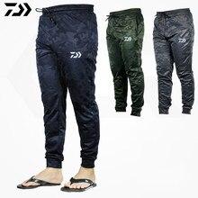 Daiwa-pantalones de pesca transpirables de secado rápido para hombre, ropa deportiva de camuflaje, para deportes al aire libre