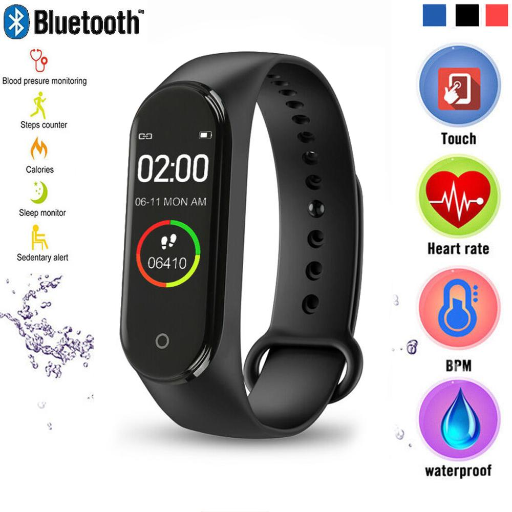 M4 Smart Wristband Heart Rate Blood Pressure Monitor Health Bracelet With Message Reminder Pedometer Smart Watch For IOS Android