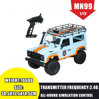 MN 99 2.4G 1/12 4WD RTR Crawler RC Car For Land Rover 70 Anniversary Edition Vehicle Toy Model Outdoor Toys Kids VS MN90 MN91 1