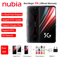 New EU Version ZTE Nubia Red Magic 5G Mobile Phone 6.65 8/12GB RAM 128/256GB ROM Snapdragon 865 Android 10 NFC Gaming Phone