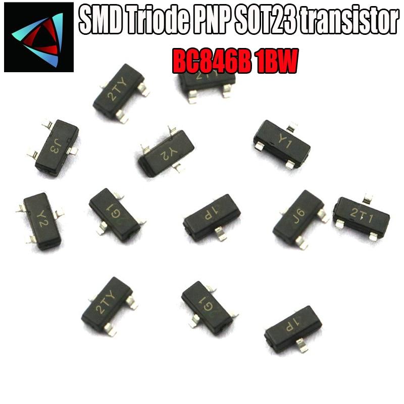 BC846B + BC856B 100pairs Brand New 65V 100mA NPN PNP SMT Transistor SOT-23