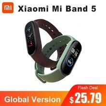 Xiaomi Mi Band 5 Smart Armband 4 Farbe AMOLED Bildschirm Miband 5 Armband Fitness Tracker Bluetooth Wasserdichte Smartband Globale