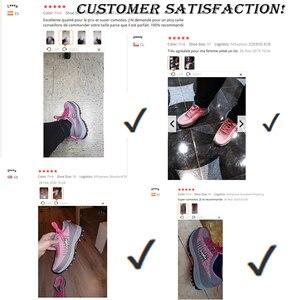 Image 5 - Botas de trabalho femininas com bico de aço, botas de trabalho para mulheres, malha respirável, leve, antiderrapante, sapatos de segurança tamanho 40