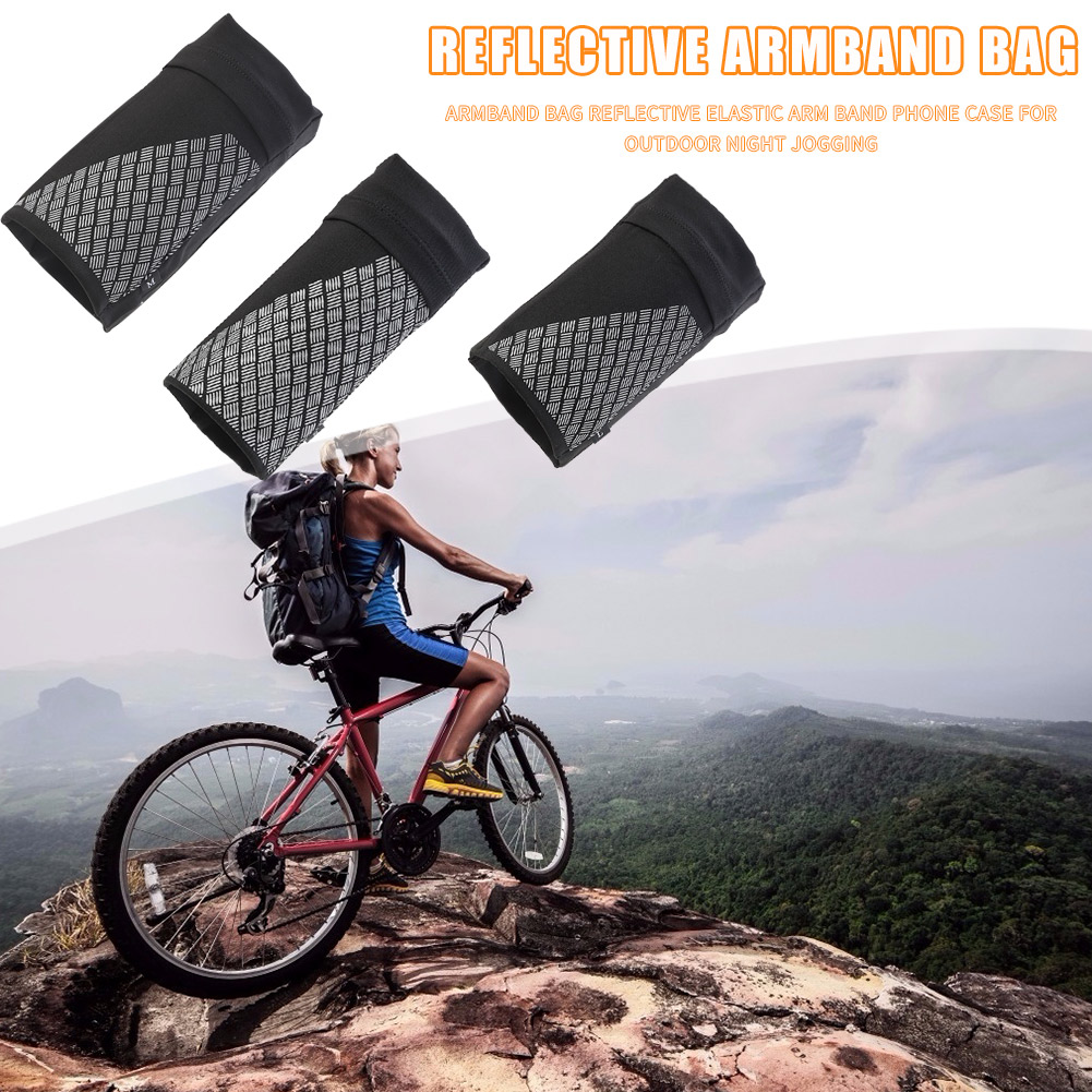 Jogging  Armband Bag Arm Band Night Cycling Elastic Phone Reflective Case For Outdoor Running Sports Fitness Ornament