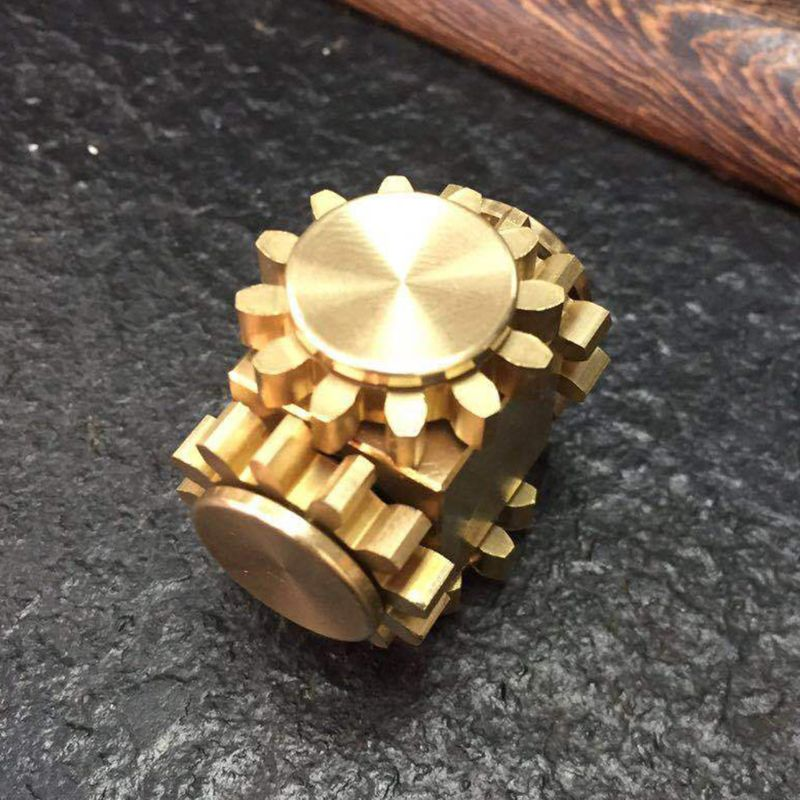 Spinner Metal Brass Durable Mechanics Linkage 4 Gears Spin Finger Desk Toy Anxiety Stress Reducer Game