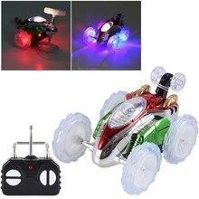 RC Car Wheel Vehicle Motor Funny Mini Remote Control Toy Stunt Car Monster Truck Radio Electric Dancing Model Rotating Car цена 2017