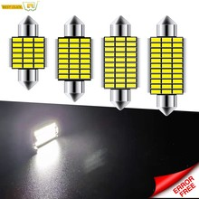 Xukey Festoen C10W C5W Led Verlichting 31Mm 36Mm 39Mm 41Mm Licentie Nummerplaat Lamp Licht 6000K Wit 12V Can-Bus Auto Styling