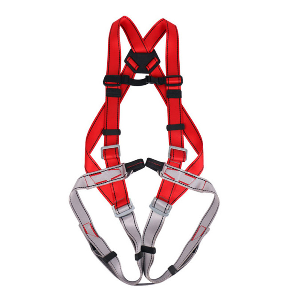 NTR Outdoor Full Body Safety Rock Climbing Tree Rappeling Harness Seat Belt High Strength Polyester Belt
