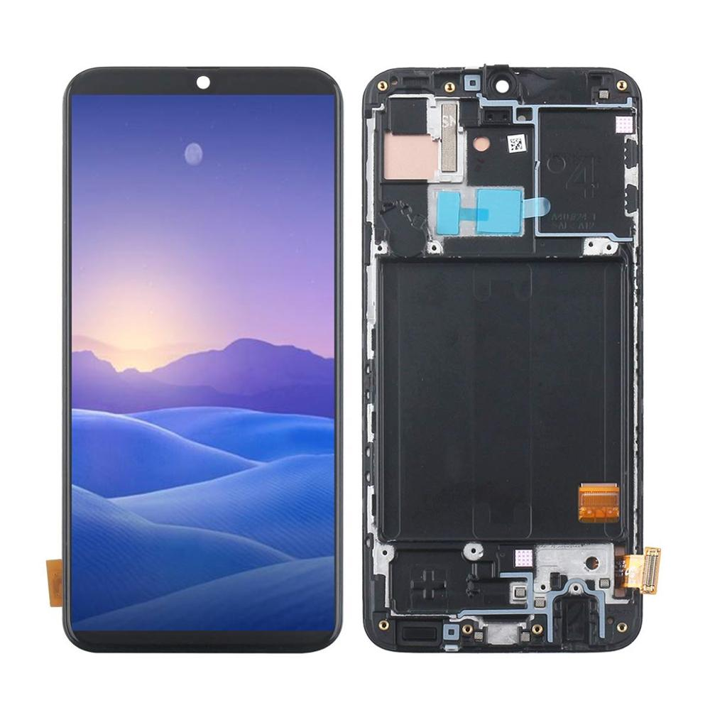With frame 5.9 inches Super AMOLED <font><b>LCD</b></font> For <font><b>Samsung</b></font> <font><b>A40</b></font> <font><b>LCD</b></font> A405 <font><b>LCD</b></font> display with touch Screen Digitizer Assembly display screen image