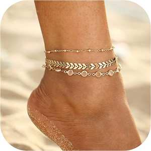 Crystal Anklet Beach-Leg-Chain Barefoot Handmade Party Silver Vintage Summer Women Fashion