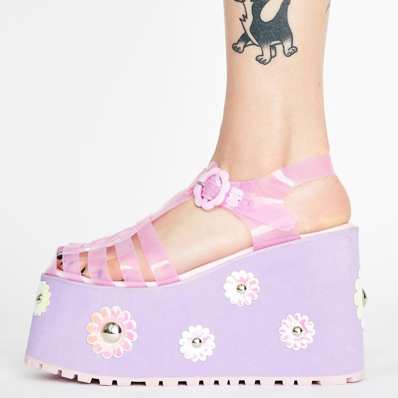 ARQA clear Jelly platform sandal women