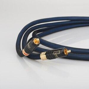 Image 3 - Audiocrast A10 para kabel Rca najwyższej jakości posrebrzany kabel męski do męskiego RCA z WBT0144 wtyczka RCA kabel
