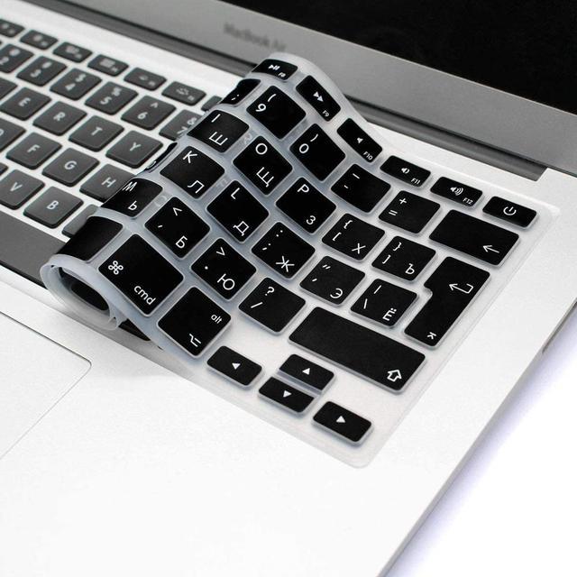 Чехол для клавиатуры Macbook Air 13 с русскими буквами, силиконовый защитный чехол для Mac Book Pro 13 15 Magic 1st Gen