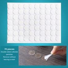 Acrílico dupla-face adesivo emocionante anti deslizamento gel almofadas adesivo pegajoso reusável multi-função nano fita mágica 70 pçs