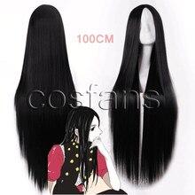 Anime hunter x hunter illumi zoldyck irumi cosplay hairwear peruca boné 100cm longo peruca para festa de carnaval de natal dia das bruxas
