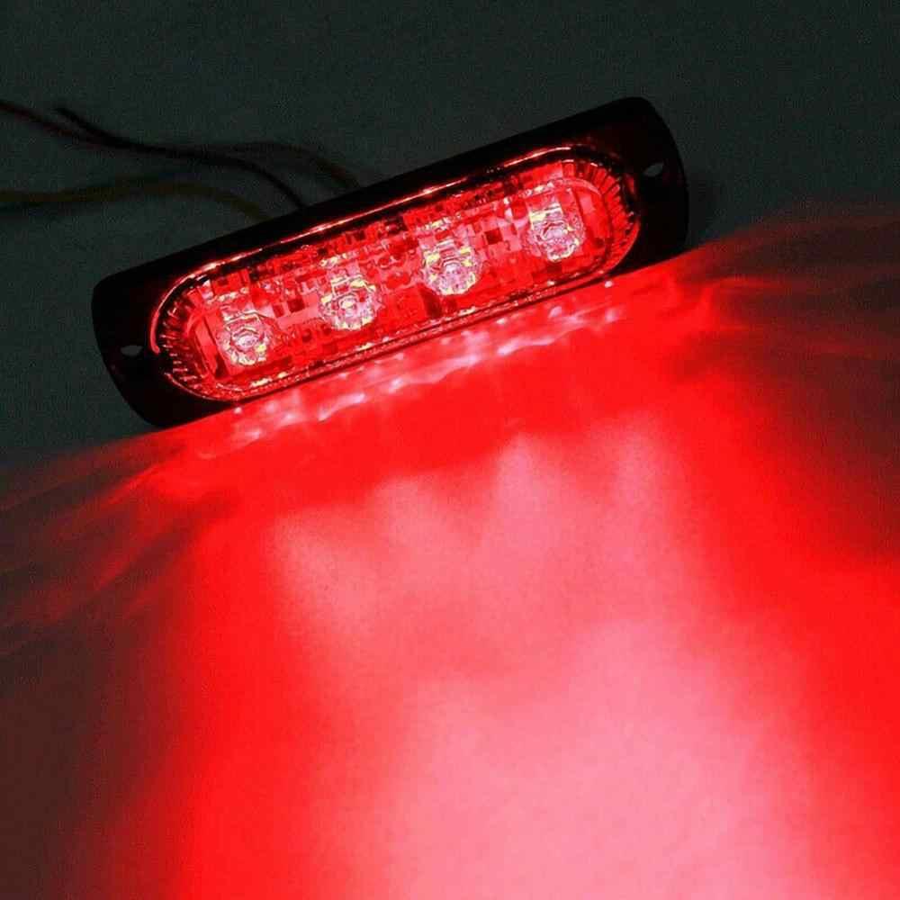 DC 12V Merah 4/6/12 LED Strobo Peringatan Lampu Mobil Grille Lampu Berkedip Truk Beacon Bahaya Lalu Lintas Darurat lampu LED Mendesak Lampu