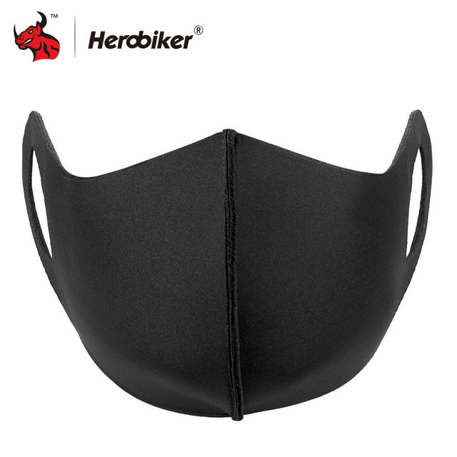 HEROBIKER Mondkapjes Motorcycle Mask Filter Face Shield Anit-fog Balaclava Anti-splash Dustproof Face Mask For Cycling Sport