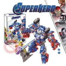 New Superheroes Avengers 4 Thanos WAR MACHINE Fit Marvel Avengers Endgame Figures Building Blocks Bricks Toy Kid Gift Birthday