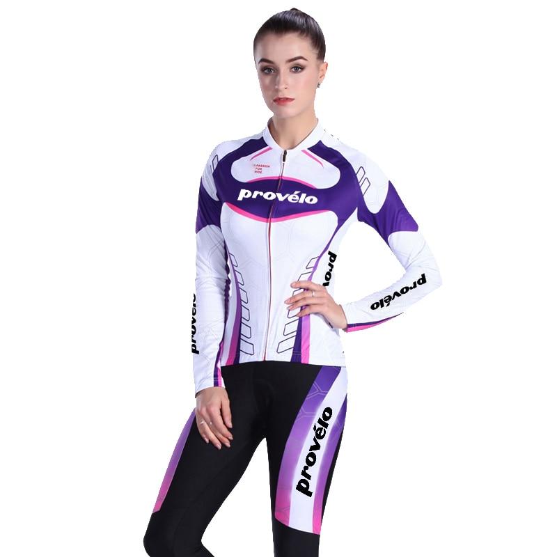 2019 New Women Winter Cycling Jersey Set Warm Thermal Fleece Clothing Slim Fit Bicycle Bike Wear