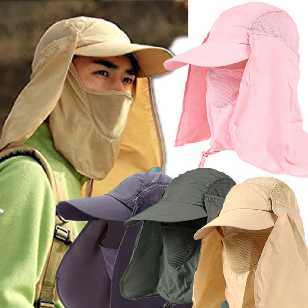 Outdoor Sun Hat UV Protection Ear Flap Neck Cover Fishing Hunting Hiking Cap Unisex Leisure Hat
