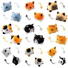 Flip Double face Cat Dog Gato Kids Soft Gift peluche peluche animali a doppia faccia Flip Doll Peluches per Pulpos Girl